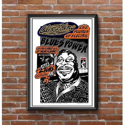 Albert King Poster - Electric Blues Music STAX Records Memphis SRV