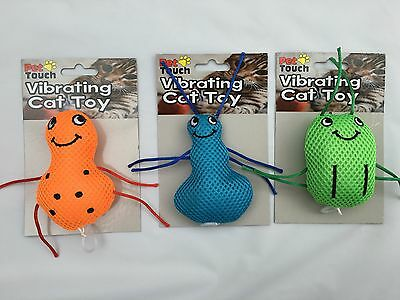 Cat/Kitten Toy Vibrating Orange, Blue, Green!