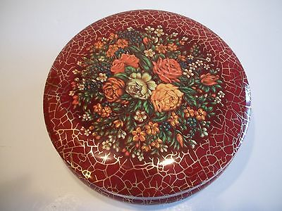 """Daher Decorated Ware Round Covered Tin 5"""""""
