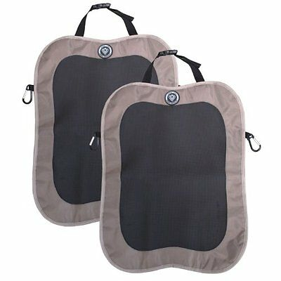 Prince Lionheart Back Seat Kick Mat, 2 Pack, Brown 0-30-5