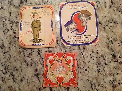 WWII Military Greeting Cards Army Navy Air Force Marine Valentine's Sweetheart