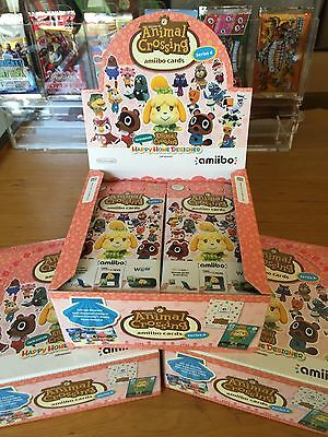 Nintendo Amiibo ANIMAL CROSSING SEASON 4 Trading Card Game 21 BOOSTER PACKETS