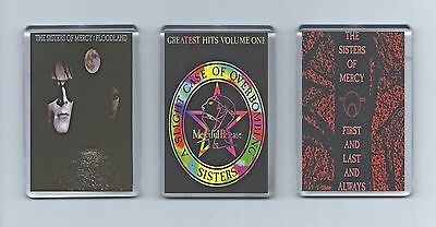 Magnets x 3 : SISTERS OF MERCY Floodland First and Last and Always GOTH