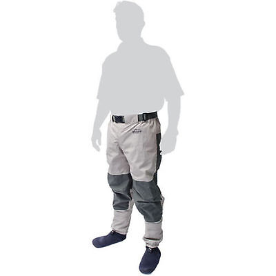 Leeda Volare Stocking Foot Breathable Fly Fishing Waist Waders - All Sizes