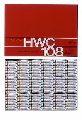 Holbein Artists' Water Color Transparent Watercolors 108 colors set W422 HWC