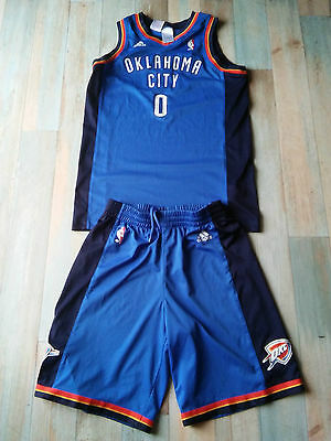 Short Maillot BASKET BALL ADIDAS OKLAHOMA CITY N°0 WESTBROOK TAILLE/14 ans TBE