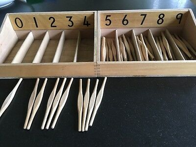 Montessori Numbered Spindle Boxes