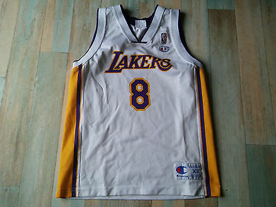 Short Maillot BASKET BALL CHAMPION LAKERS NBA N°8 BRYANT TAILLE/14 ans TBE