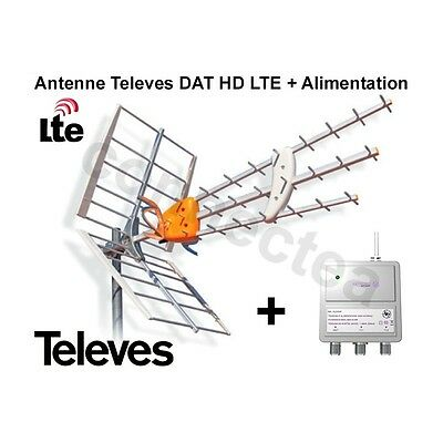 Televes DAT HD LTE BOSS 790 Antenne UHF Trinappe 17 dB + Alimentation - Antenne