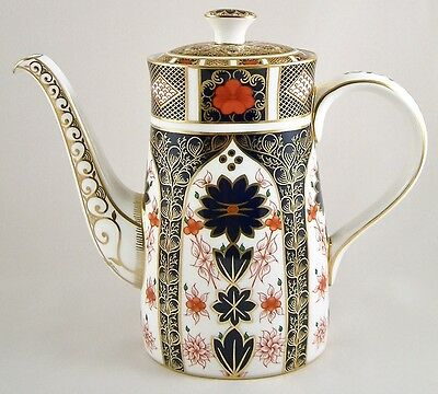 Royal Crown Derby China Old Imari 1128 Large Coffee Pot 1St Excellent!