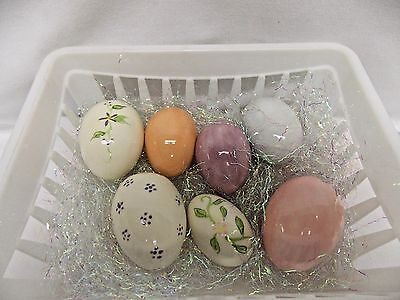 Easter Eggs Seven Ceramic Gloss Glaze with Mixed Decor 1 1/2 to 2 Inch-07