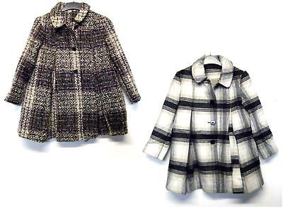 Girls Coat Fancy Formal Button Fastening 3-13 Years Ex Store Brand New