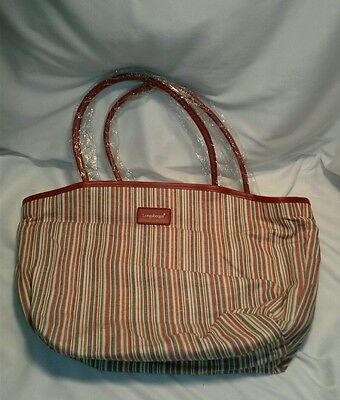 ☆ NEW ☆ Longaberger Homestead stripe tote bag or purse S/SHIPPING