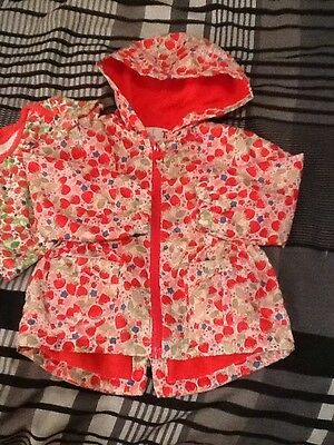 Baby girl Fleece Lined mac With Hood (Tu) size 9-12 months