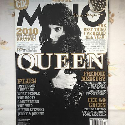 Mojo Magazine Queen + Review Of 2010 VG Cond Opened no CD