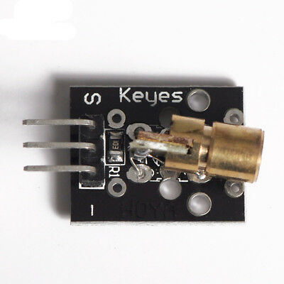 New Laser Module 650nm 6mm 5V 5mW Red Laser Dot Diode Copper Head for Arduino