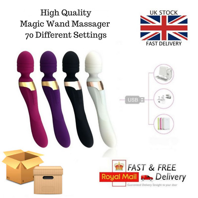 Magic Wand 2 in 1 Double Ended Massager 108 Settings + Heat Function (UK)