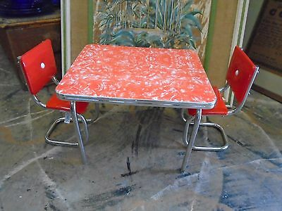 "American Girl 18"" Doll Molly's Retro Modern Kitchen Table and Chairs RETIRED"