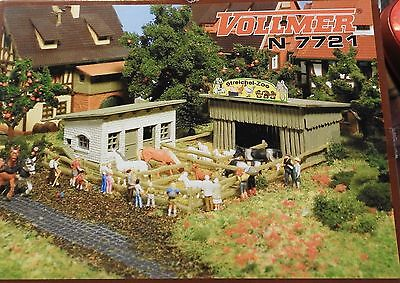 MAQUETTE VOLLMER N 7721 Caresse Zoo avec animaux