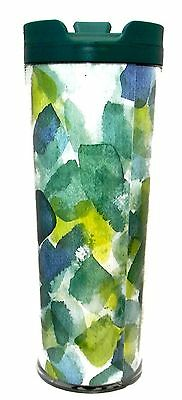 NEW STARBUCKS Summer Green Watercolor Tumbler 16 oz Made in USA Limited Edition