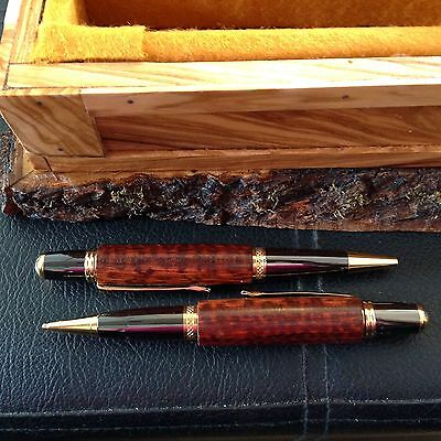 Snake Wood Pen And Pencil Set