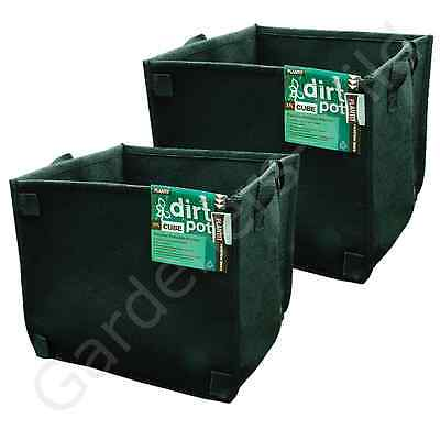 37L x2 FABRIC AIR PRUNING PLANT POT SQUARE PLANTIT dirt fibre hydroponic