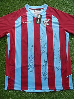 Scunthorpe United Shirt Hand Signed by 2016/2017 Squad - 19 Autographs - Morris