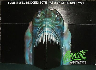 1982 Pop-up Parasite Movie 3-D Ad Horror Movies Embassy Pictures Monster Movie