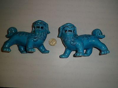 Blue Chinese Foo Dogs