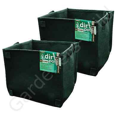 56L x2 FABRIC AIR PRUNING PLANT POT SQUARE PLANTIT dirt fibre hydroponic