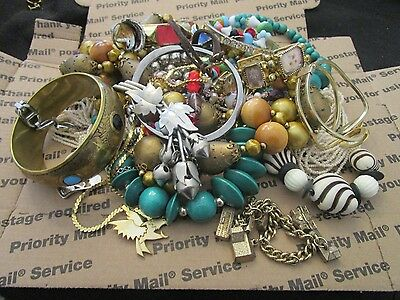 2.4 pound Vintage Estate Jewelry Lot, All Wearable Pieces in Great Condition(6)