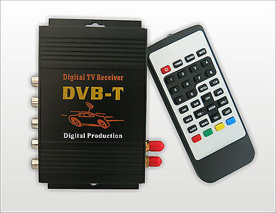 HD Car TV Tuner Mobile DVB-T MPEG-2 Digital TV Receiver Box With Dual antennas