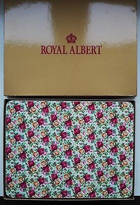 Six Royal Albert Old Country Roses Place Mats/ Unused  2002