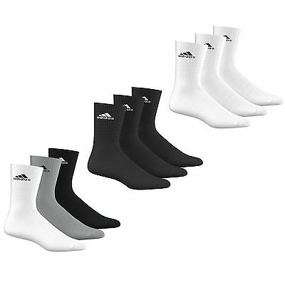 adidas Performance Crew Half Cushioned Sport Socks 3 Pack