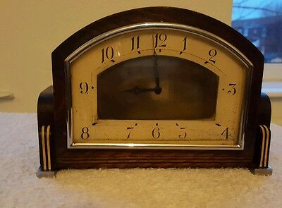 Smiths Vintage Mantel Clock Key Mechanism In Excellent Condition And Working