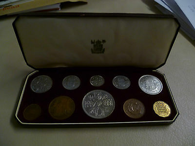 1953 Royal Mint 10 Coin Proof Set in Original Case