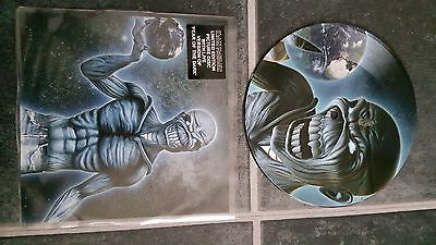 """Iron Maiden Different World 7"""" Vinyl Picture Pic Disc + Backing Card"""