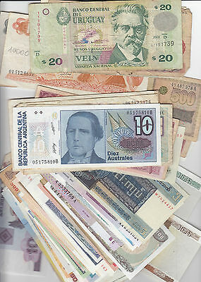Lot of Over 80 World banknotes