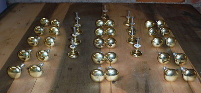 38 Vintage Knobs Round Metal Drawer Pull Lot Door Cabinet Cupboard Hardware 1.25