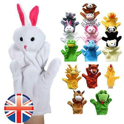 *UK Seller* Animal Hand Puppet Glove Kids Children Plush Farm Jungle 18 Designs