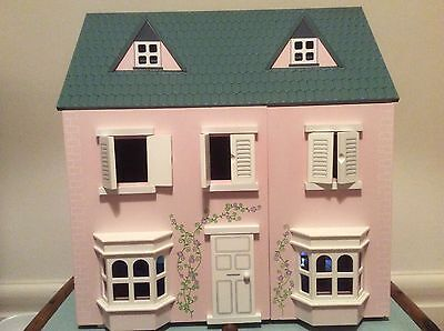 Beautiful wooden dolls house With Furniture And 5 Dolls Whitley Bay