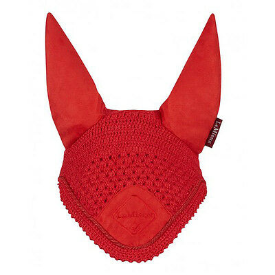 New LeMieux Signature Fly Hood / veil  Coral Red Full size