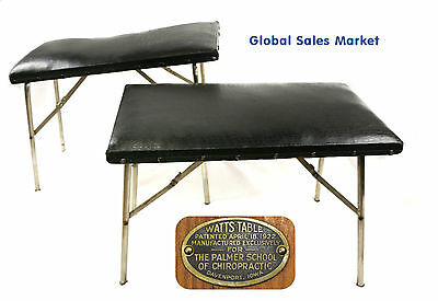 Antique Set Chiropractic Tables Palmer School Chiropractor Watts Table 1920's