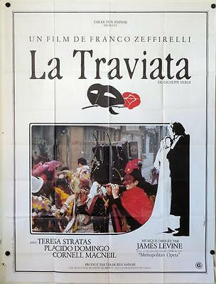 632 LA TRAVIATA style B French 1p '83 Franco Zeffirelli, Placido Domingo, opera