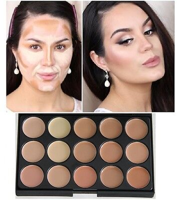 15 colors foundation cream Concealer palette contour face makeup highlighter S2