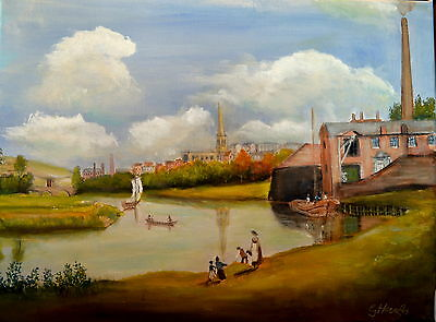 Art Original oil painting -  Classic English landscape  by  Gary Haigh