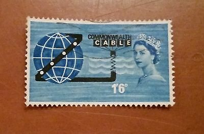 GB QEII comm. stamps (SG 645) Opening of COMPAC. 1963. from FDC
