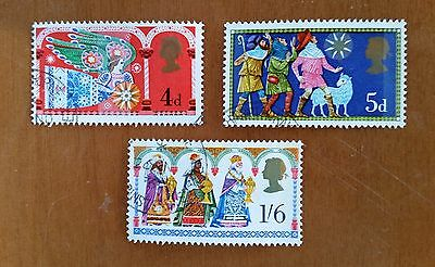 GB QEII comm. stamps (SG 812-814) Christmas. 1969. set of 3 from FDC
