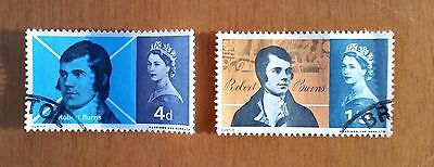 GB QEII commemorative stamps (SG 685-686) Robert Burns  1966. set of 2 from FDC
