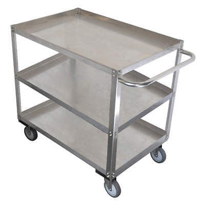 GRAINGE Stainless Steel Unassembled Utility Cart,SS,41 L.1200 lb, 11A461, Silver